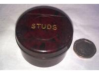 vintage bakelite stud box