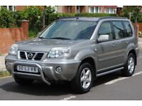 LHD LEFT HAND DRIVE NISSAN X-TRAIL 2003 4x4 OUTDOOR AUTOMATIC,SIDE-BARS,AC,LOADED