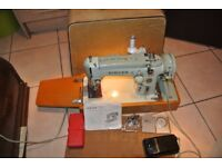 Singer 319K Freehand Embroidery Semi Industrial Heavy Machine With Instruction Manual & Accessories
