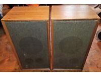 Pair of 1970`s Vintage Dynatron Speakers LS 1434 in a Teak Wood Finish
