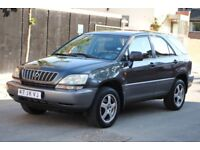 LHD LEFT HAND DRIVE LEXUS RX300 EXECUTIVE 2002 4x4 AUTOMATIC,SAT-NAV, LEATHER,,LOADED