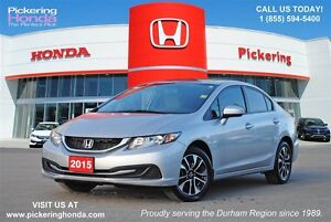 2015 Honda Civic EX |  SUNROOF | ALLOYS | REAR & SIDE CAMERA