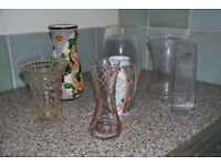 Selection of Vases, Ceramic, Cut Glass and Crystal