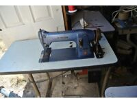 Singer Industrial Walking Foot Sewing Machine MODEL 331K5 See 4 layers of LEATHER SEWN SAMPLE
