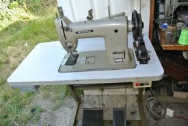 Mitsubhishi HEAVY DUTY LEATHER Walking FootSewingMachine with reverse Model DY-253*** LARGE BOBBIN**