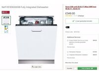 Neff S51E60X0GB Fully Integrated Dishwasher. Brand New & Boxed with 1+ years remaining warrenty