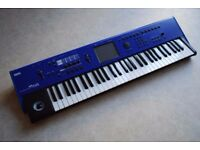 Korg M50 digital synthesizer in blue - swap considered