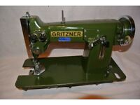 Rare Sturdy Heavy Gritzner Zig Zag Vintage Sewing Machine Made in Germany