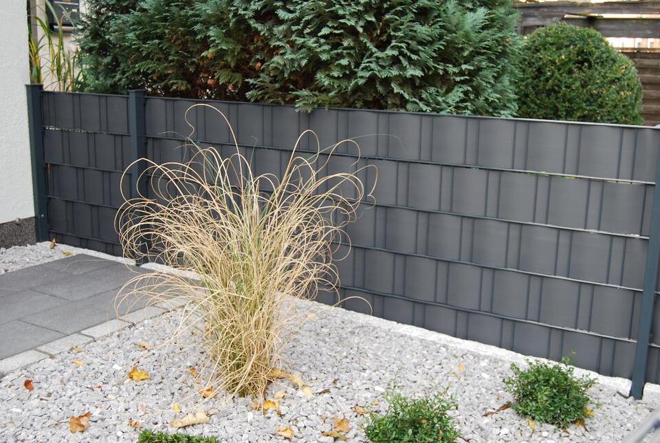 Super Gartenzaun 1,83m Sichtschutz Folie Zaun Doppelstabmatten in AN72