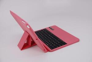 myBitti high Class Ultra Thin Case with ABS Keyboard for iPad Air-Rose Pink