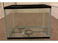 Fish tank with lid and working pump