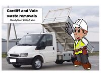CARDIFF and VALE Rubbish/ rubble/ waste removals and recycling (including Tipper van) 07555 444 876