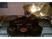 cast-iron Victorian style kitchen scales
