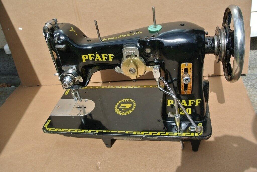 Pfaff Model 40 SemiIndustrial Zig Zag FREEHAND EMBROIDERY Sewing Magnificent Pfaff Sewing Machine Model 130