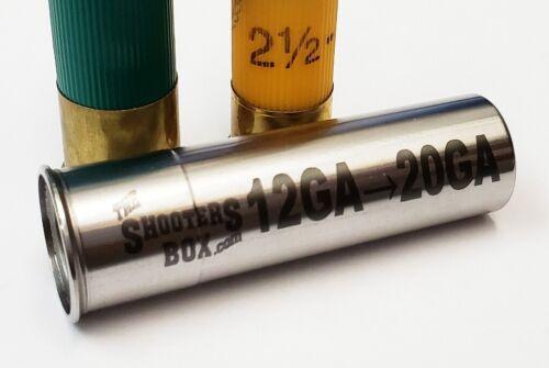 12GA to 20GA Shotgun Adapter - Stainless Steel - Free Shipping!