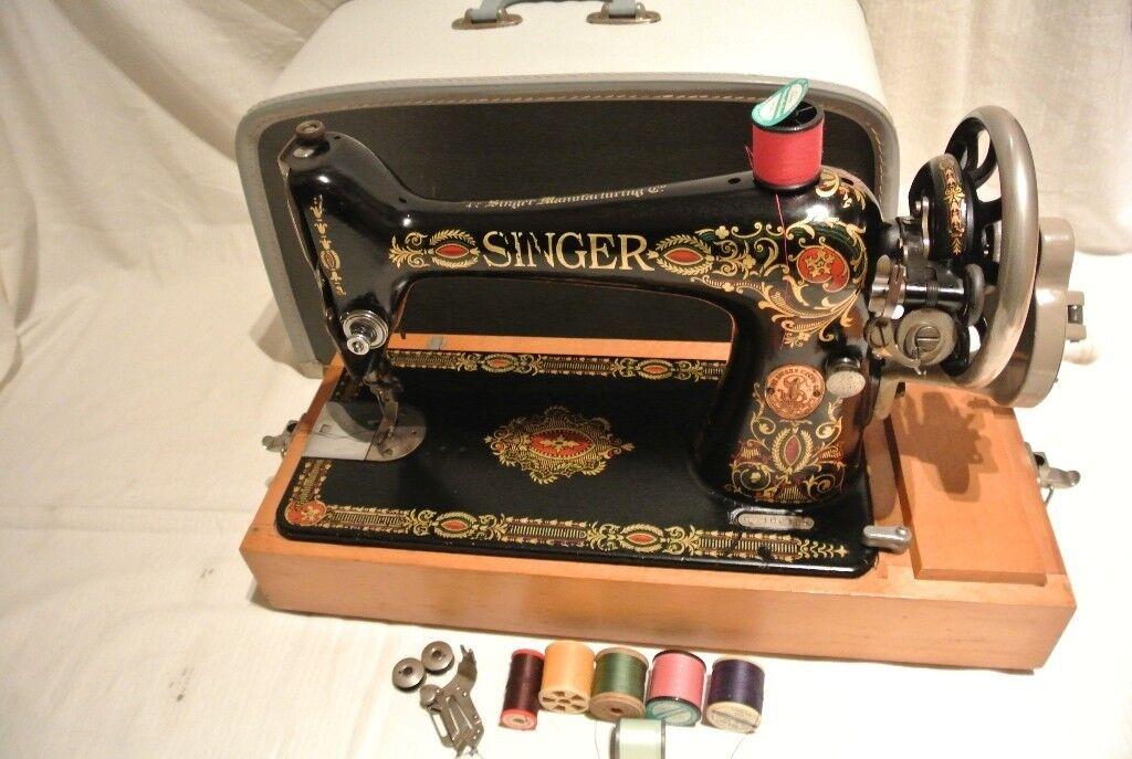 Beautiful Rare Singer 40 'Red Eye' Sewing Machine Heavy Duty Hand New Red Eye Singer Sewing Machine