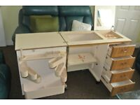 Immaculate Horn Sewing Machine Cabinet(SMART SEWING)