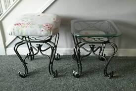 Side table and stool