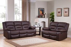 **SALE**MIAMI BROWN LEATHER RECLINERS**