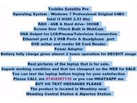 Toshiba Satallite Pro Laptop Notebook netbook workstation PC tab ipad