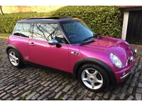 AUTOMATIC MINI COOPER TOTALLY UNIQUE HOT PINK METALLIC LEATHER TRIM PANORAMIC ELECTRIC SUNROOF AUTO