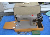 Vintage Original Singer Semi-Industrial Model 201K Sewing machine with loads of attachments