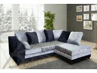 Brand new top quality crushed velvet corner sofa