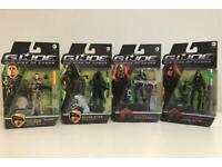 4x G.I Joe figures, brand new in sealed boxes