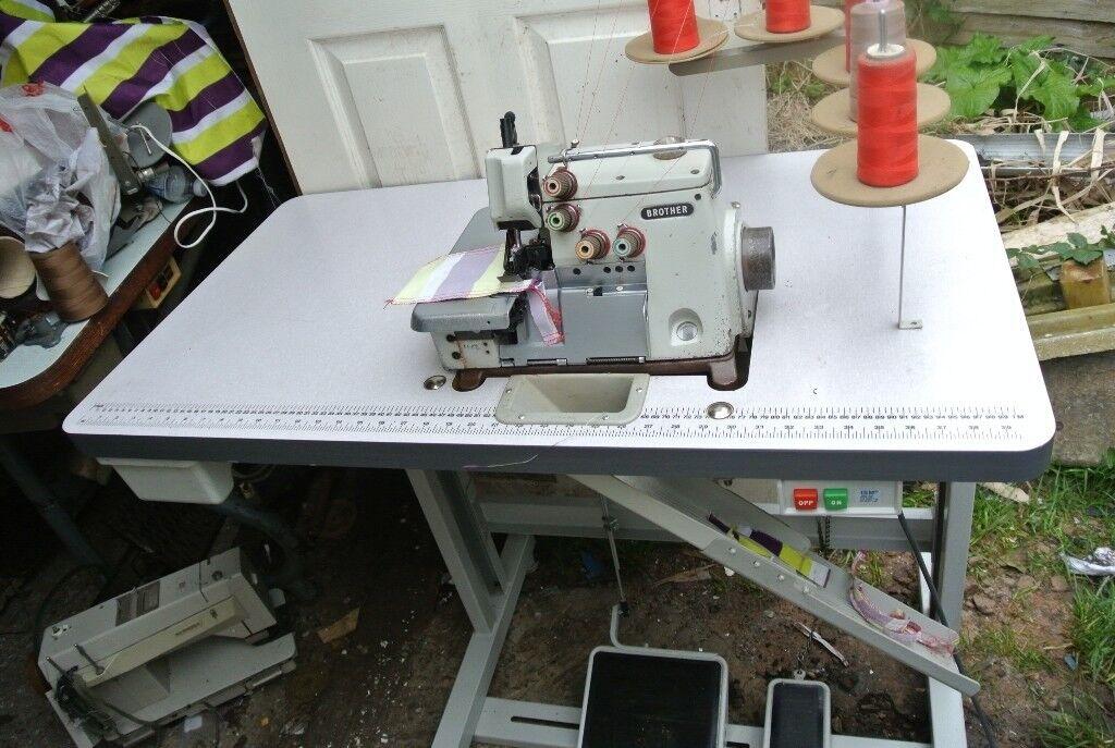 Brother Industrial 400400 Thread Overlocking Sewing Machine Model MA40 Impressive 5 Thread Overlock Industrial Sewing Machine