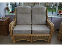 Three piece cane conservetory furniture in very good condition