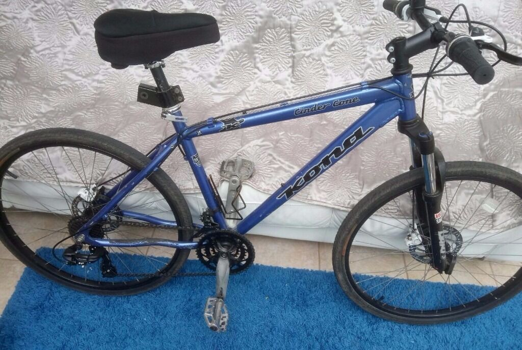 Mens Boys Kona Cinder Cone Mountain Bike 21 Speed Front Rear
