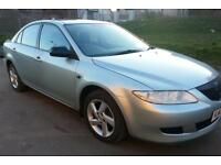 MAZDA 6 ..2004REG..FULL YEAR MOT... GOOD CONDITION..NEWCLUTCH..METAL SILVER..65k GUARANTEED MILEAGE