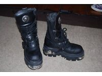New Rock Boots size 4, with box - almost NEW!