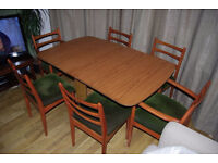 Drop Leaf dining table and 6 Schreiber chairs