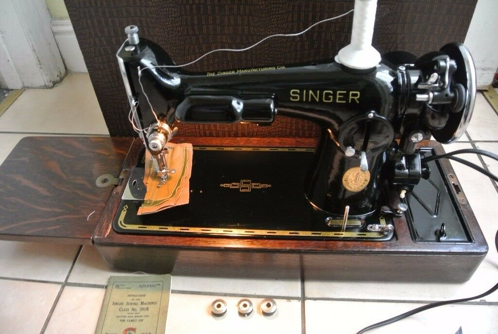 Singer 201K2 SEMI-Industrial machine SEE 4 LAYERS OF LEATHER SEWN