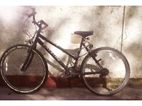 Unisex black mountain bike great condition comes with helmet, hi vis jacket and helmet £60