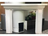 White Wooden Fire Surround, from Victorian / Edwardian House