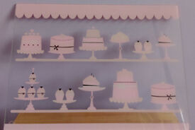 4 X Glass Cake Platters £10