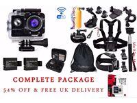 APEMAN Underwater Action Camera + Accessories Bundle Kit + Kingston 32 GB Memory Card
