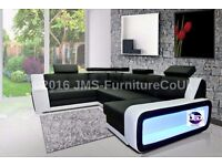 KAYENE 1 - Corner Sofa Bed with LED