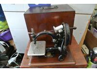 Antique Wilcox & Gibbs chain stitch sewing machine, made in USA