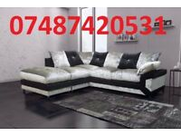 CRUSH VELVET CORNER OR 3+2 SOFA £269