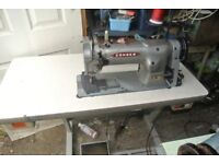 Consew Industrial Walking Foot Machine WITH PIPING FOOT Model 226** 4 layers of LEATHER SEWN SAMPLE