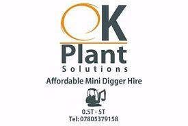 Micro Mini Digger hire birmingham shirley solihull wythall