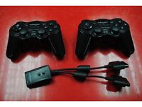 Two Quickshot Wireless Controllers for Sony PS2 £24