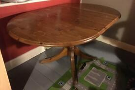 Folding table solid wood + 2 chairs