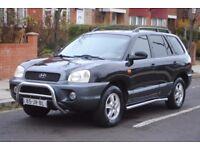 LHD LEFT HAND DRIVE HYUNDAI SANTA FE 2002 4x4, AUTOMATIC,LEATHER, AIRCO, CRUISE CONTROL,CLEAN CAR