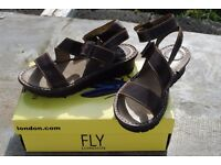 Ladies Fly London Brown Sandals - Size 6 (39)