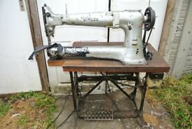 Long Cylinder Arm Singer 133K7 Industrial WALKING FOOT Machine with LARGE BOBBIN
