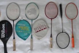 5 badminton rackets